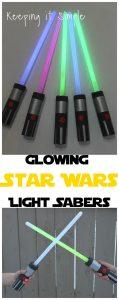 Glowing Star Wars Light Sabers