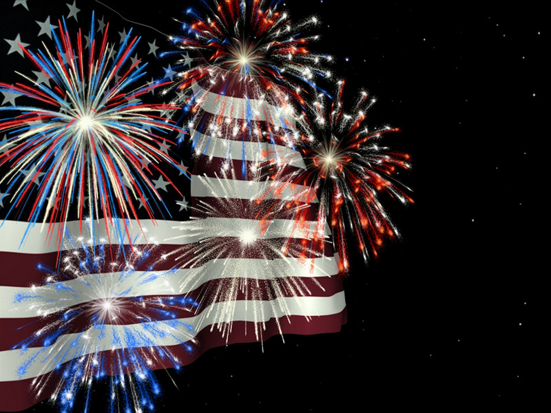 July_4th_Fireworks_and_American_Flag